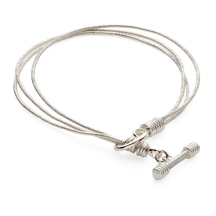 Triple-layered Silver Bracelet