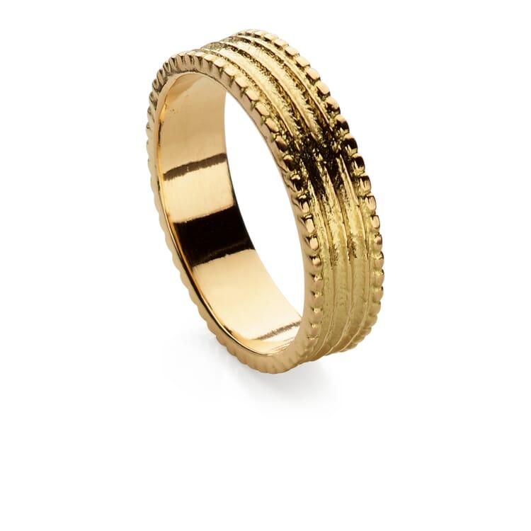 Goethe Fingerring Gold, 18 mm Innendurchmesser