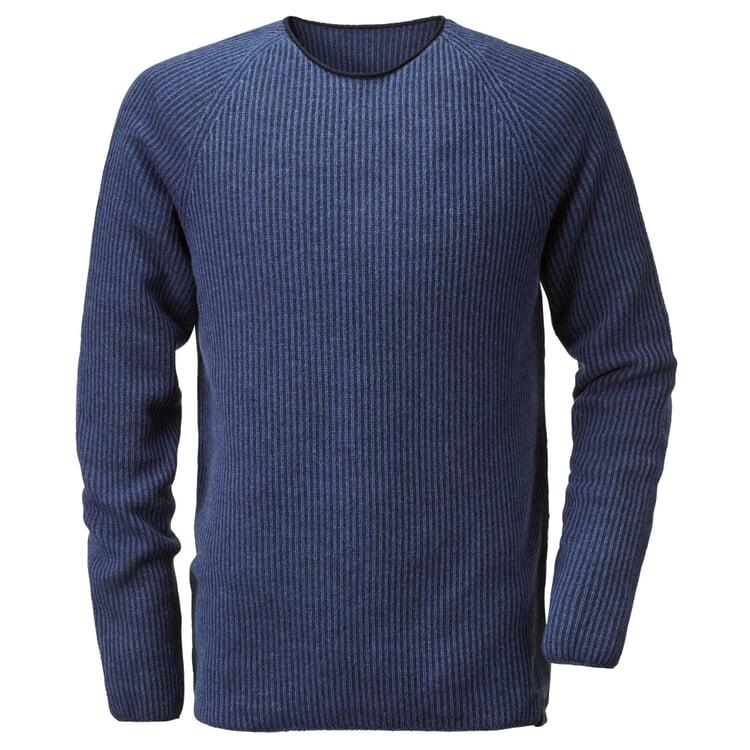 Seldom Herren-Raglanpullover Marine-Blau