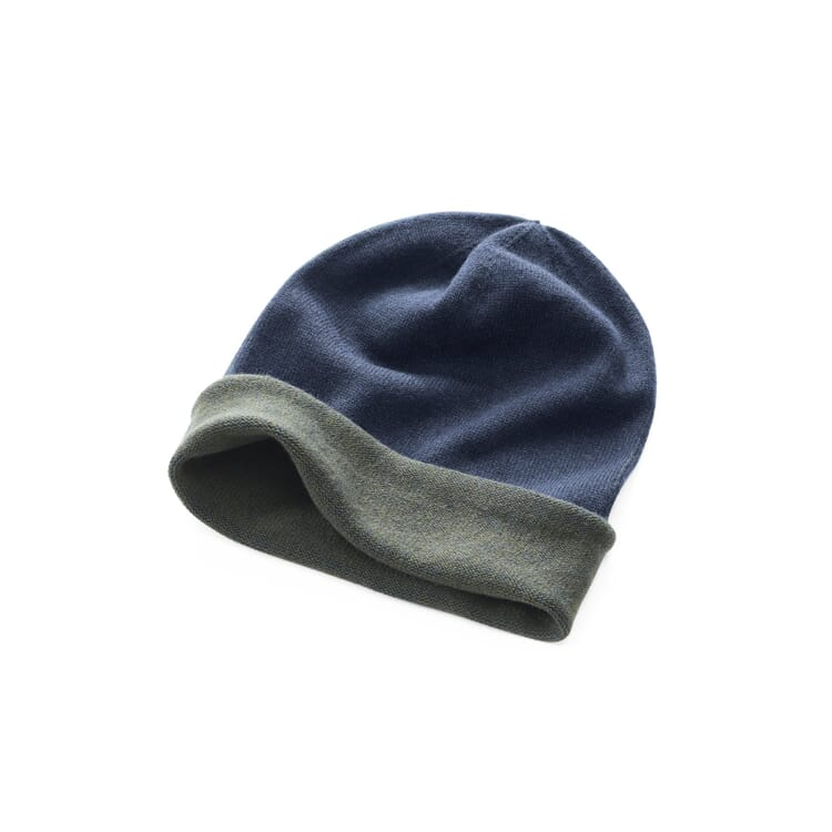 Knitted Cap by Seldom, Navy Blue-Olive