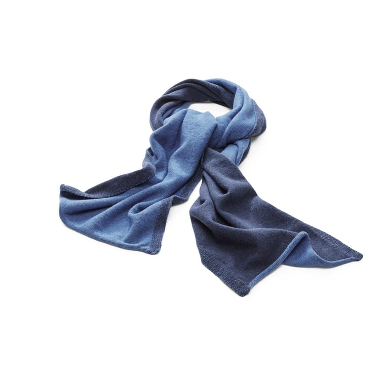 Knitted Scarf by Seldom, Navy Blue-Medium Blue