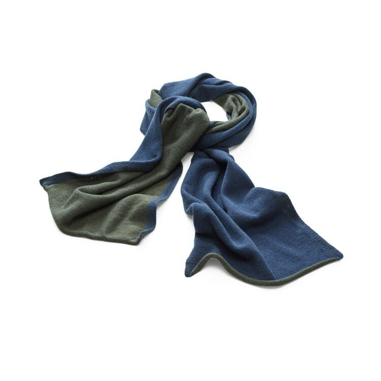 Knitted Scarf by Seldom, Navy Blue-Olive