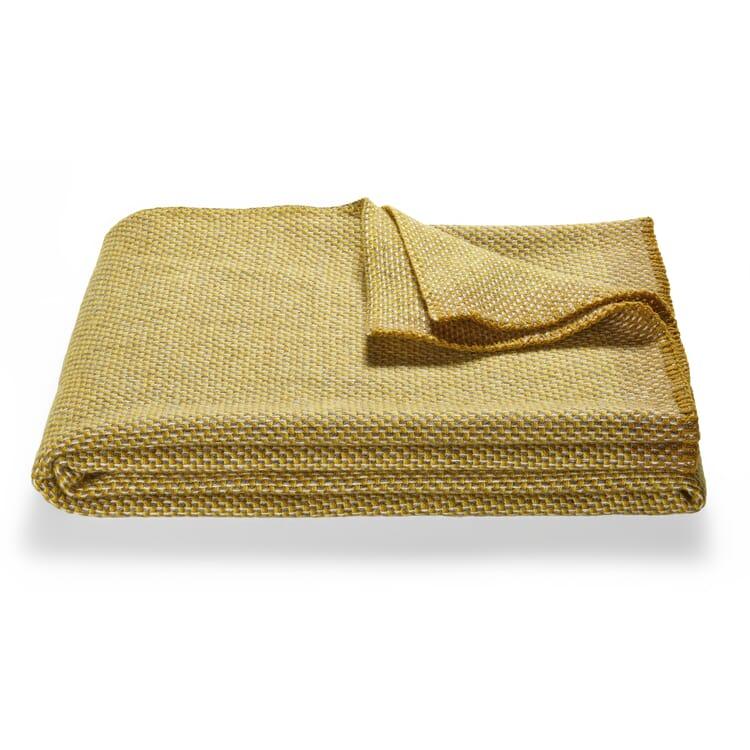 Decke gewebt, Gelb-Grau