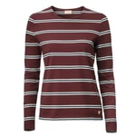 Women's Long-Sleeved Striped T-Shirt by Armor Lux Wine Red