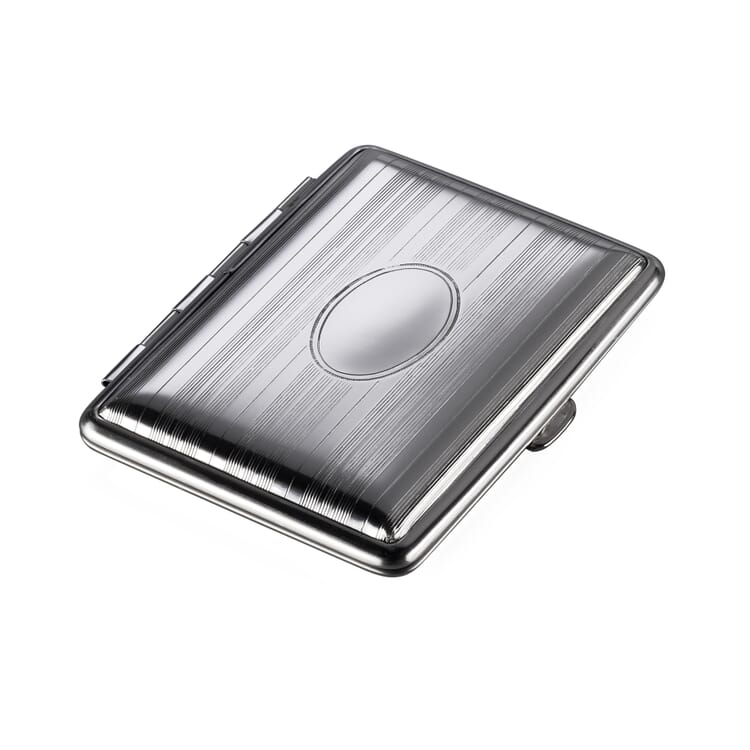 Card Holder Made of Sheet Steel, Stripes with Engraving Space