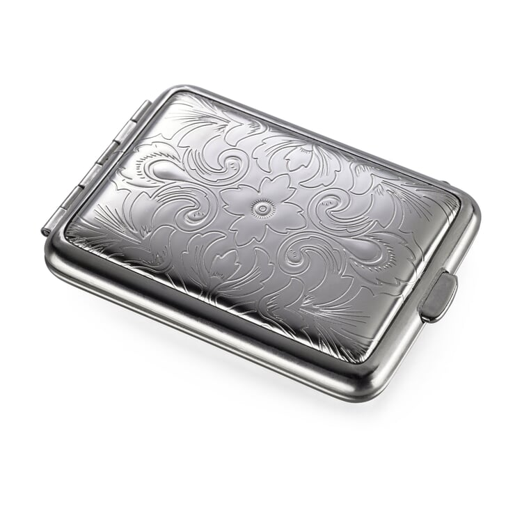 Pillbox Made of Sheet Steel Floral Pattern