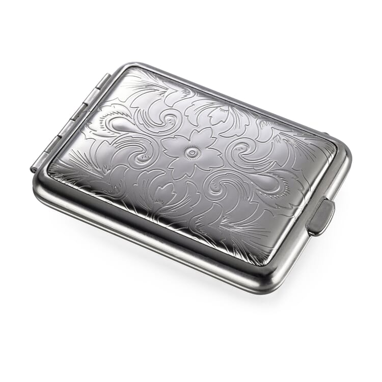 Pillbox Made of Sheet Steel, Floral Pattern