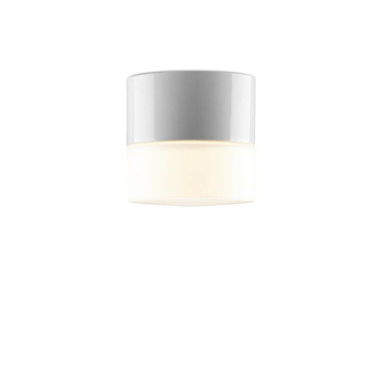Wall and Ceiling Light Cylinder LED One White / Frosted