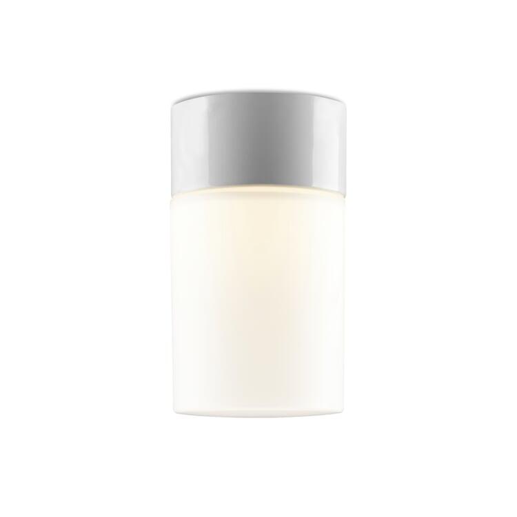 Wand- und Deckenleuchte Zylinder LED Drei Weiß / Matt