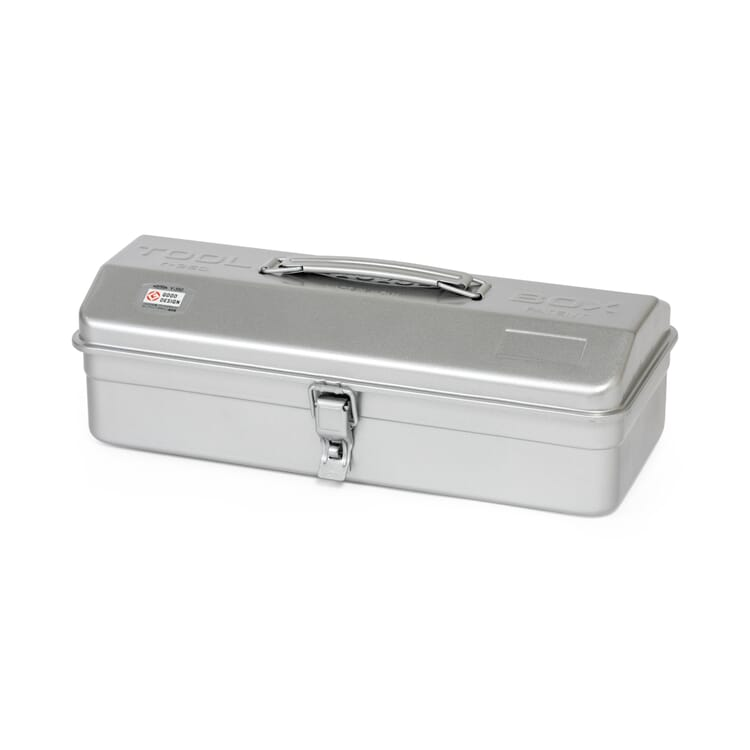 """Toolbox """"Toyo"""" with a Hip-Roof Lid, Silver-Coloured"""