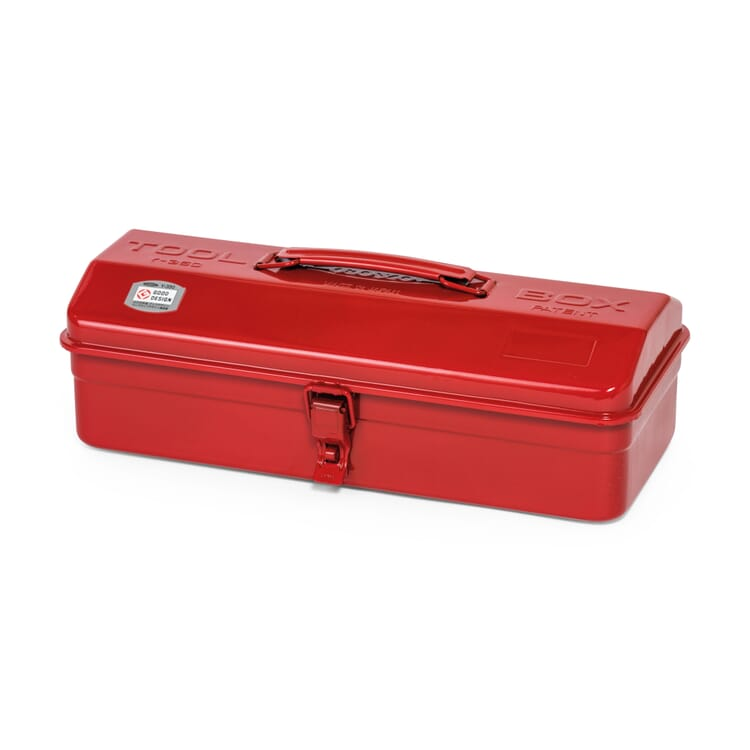 """Toolbox """"Toyo"""" with a Hip-Roof Lid, Red"""