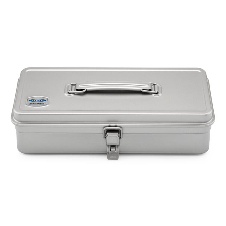 """Toolbox """"Toyo"""" with a Flat Lid, Silver-Coloured"""
