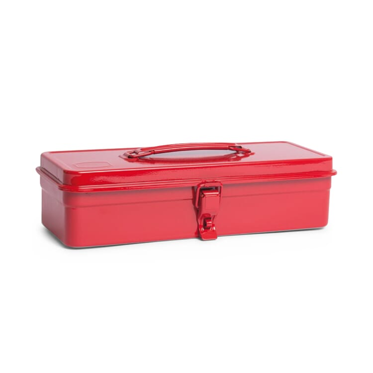 """Toolbox """"Toyo"""" with a Flat Lid, Red"""