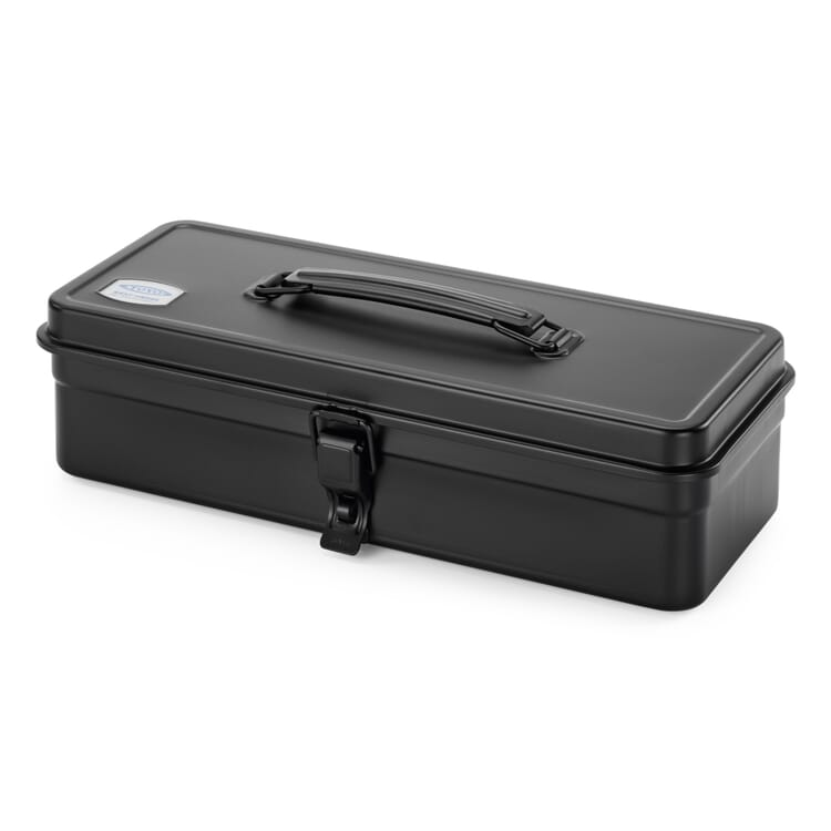 """Toolbox """"Toyo"""" with a Flat Lid, Black"""