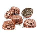 Small Baking Forms Made of Tin-Plated Copper