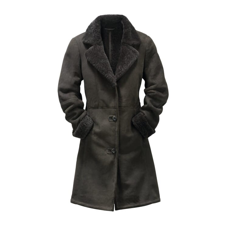 Women's Icelandic Lambskin Coat, Anthracite