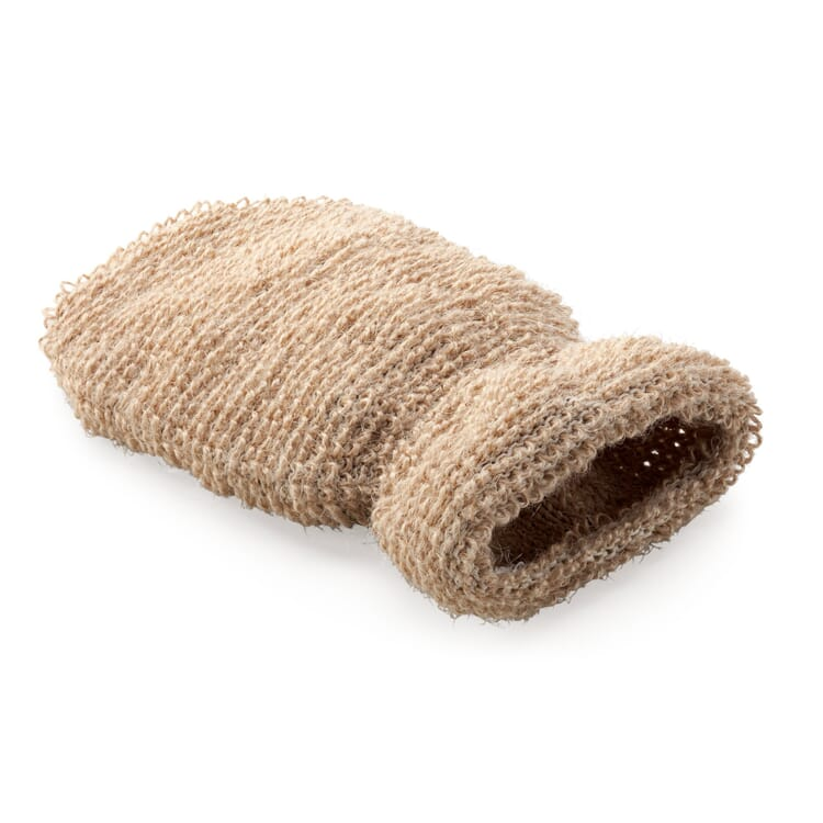 Massage Glove Made of Flax