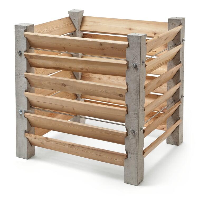 Kompostkiste Beton und Lärchenholz