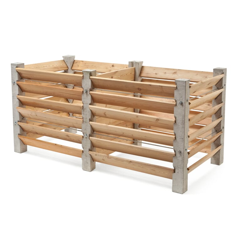 Erweiterung Kompostkiste Beton und Lärchenholz