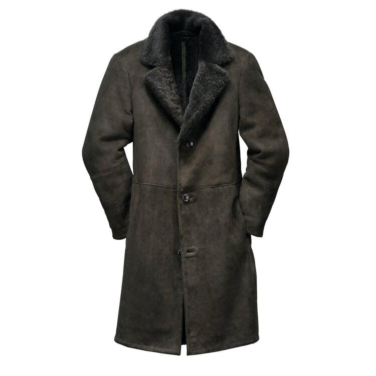 Men's Icelandic Lambskin Coat Charcoal