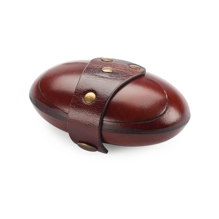 Cowhide oval purse