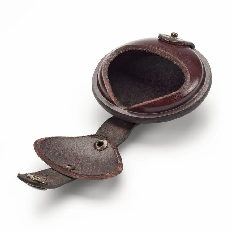 Round cowhide purse