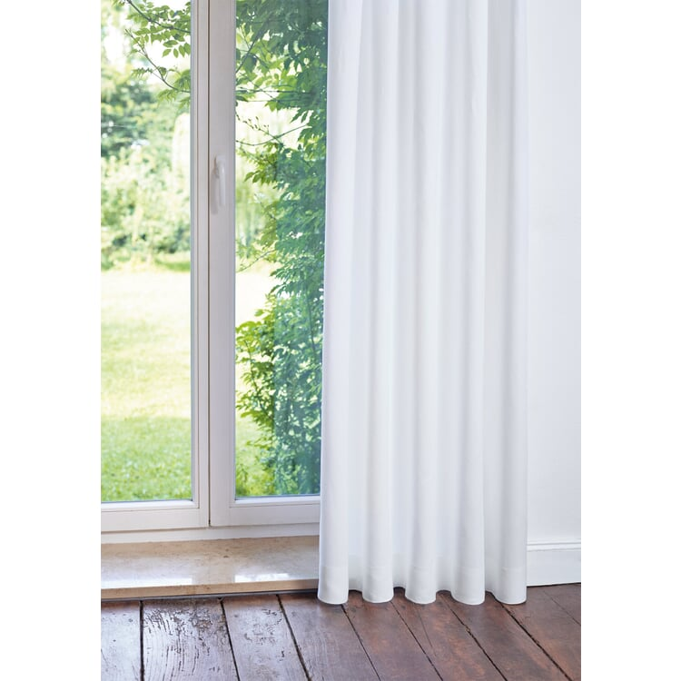 Pure Linen Curtains Height 150 cm White