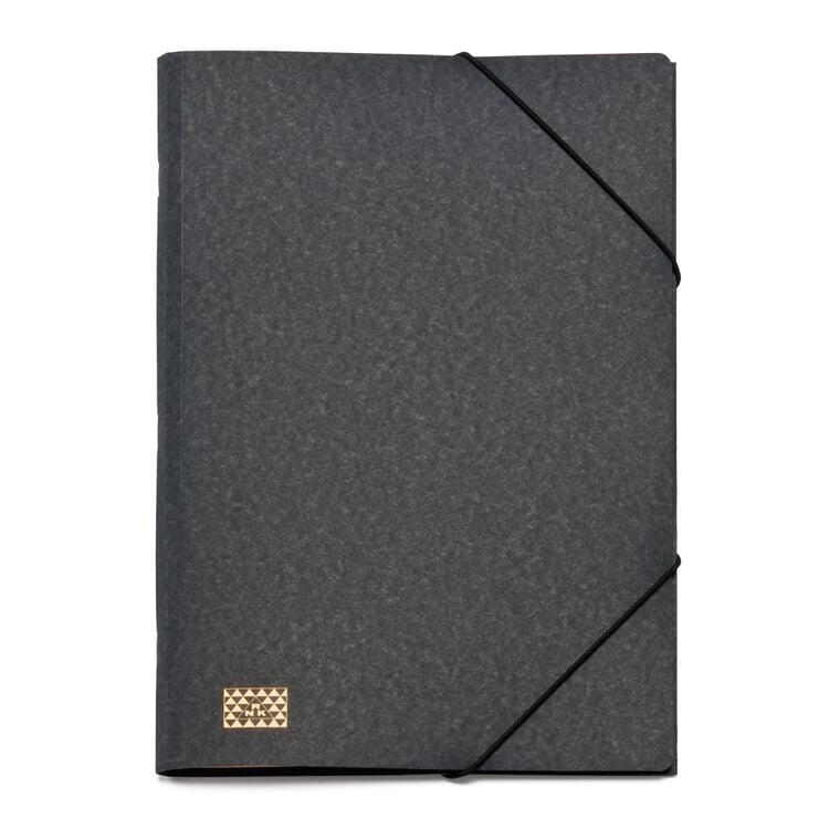 20 Compartment Cardboard File Holder Black