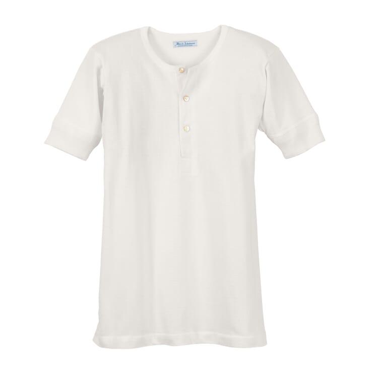 Men's Half-Sleeved T-Shirt Made of Jersey by Merz b. Schwanen, White
