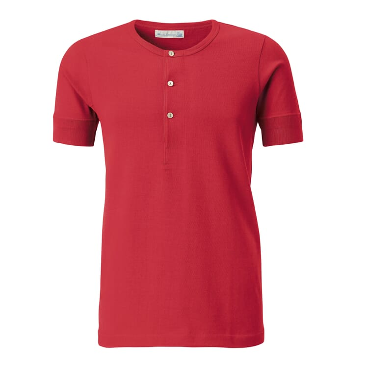 Men's Half-Sleeved T-Shirt Made of Jersey by Merz b. Schwanen, Red