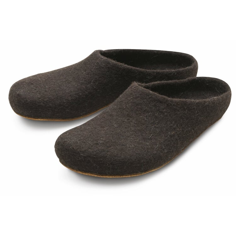 Gottstein Jura Sheep Felt Slippers Dark brown