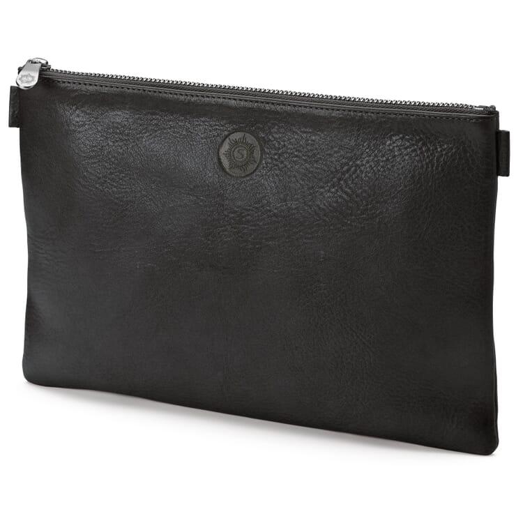 Sonnenleder Banktasche Leder, Schwarz