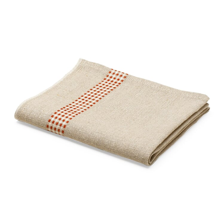 Linen Dish Towel Red