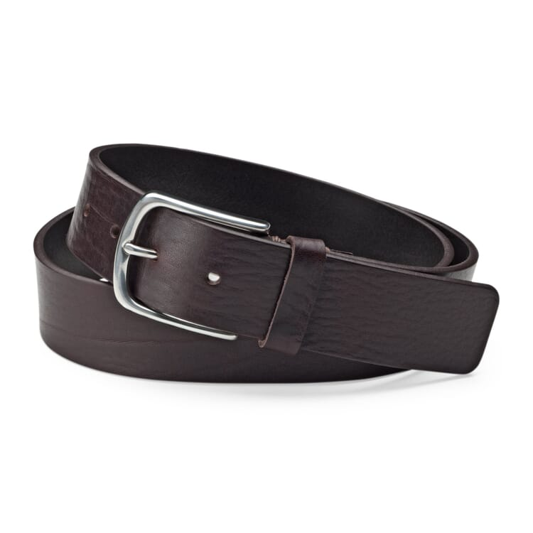 Schröder Cowhide Belt, Dark Brown
