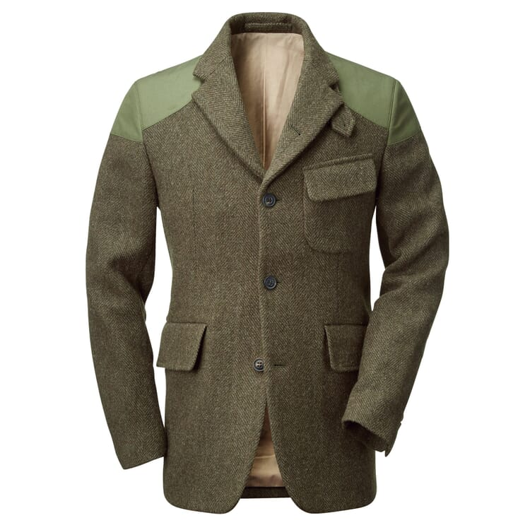 Nigel Cabourn Herrenjacke Harris-Tweed, Oliv