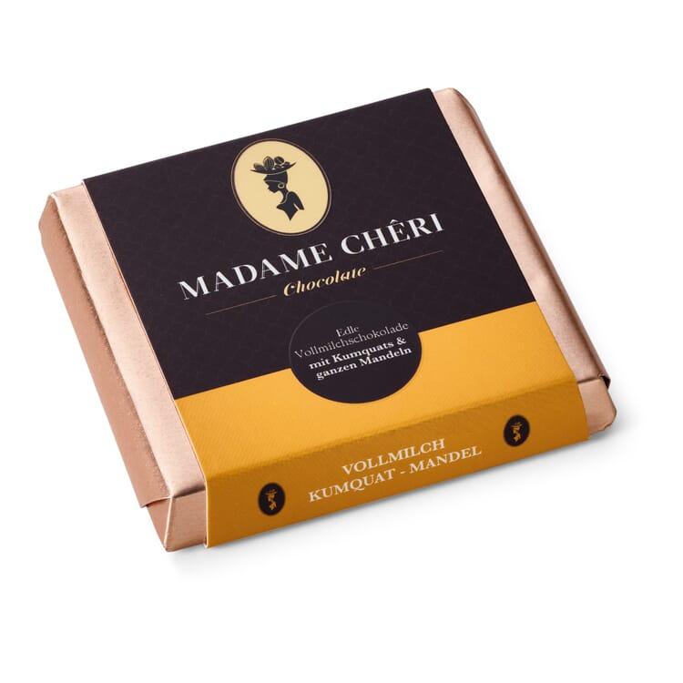 Milk Chocolate with Kumquat and Almond by Madame Chêri