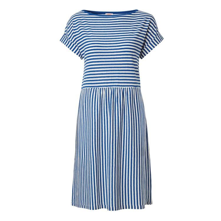 Armor lux Sommerkleid Ringel Mittelblau-Weiß