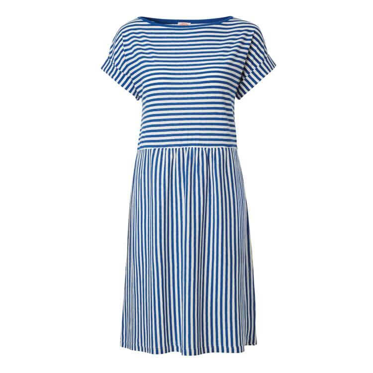 Armor lux Sommerkleid Ringel, Mittelblau-Weiß