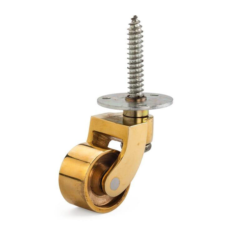 Brass Castor for Light-Weight Furniture
