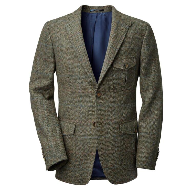 Men's Sports Jacket Made of Harris Tweed by Manufactum, Brown Hues