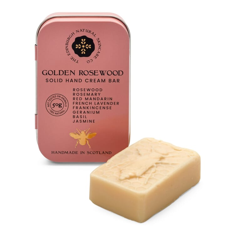Solid Hand Cream in a Bar, Golden Rosewood