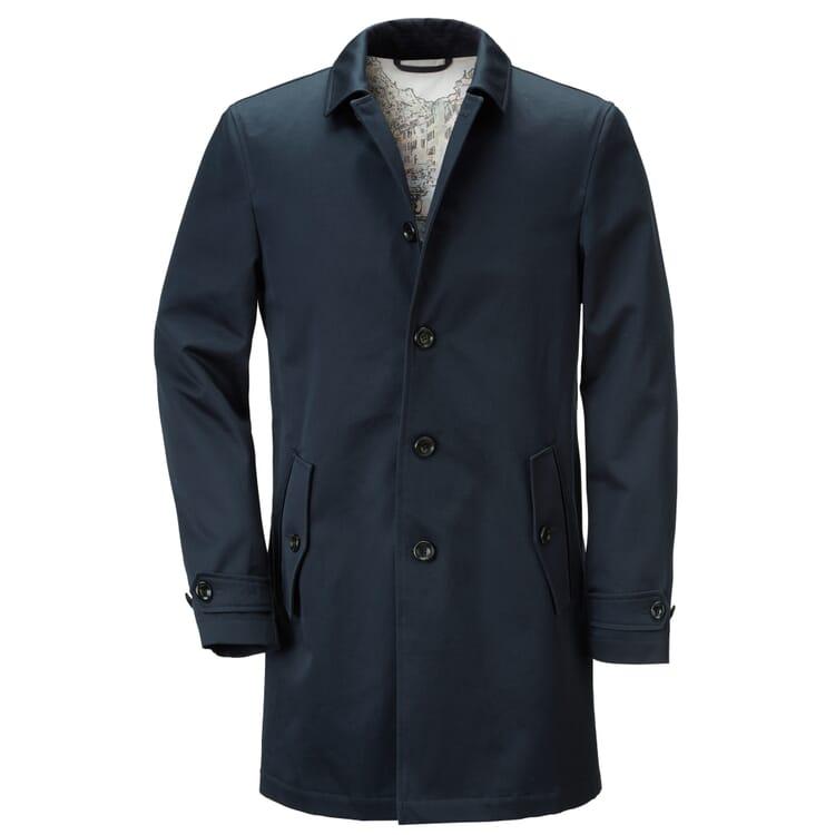 Men's Car Coat Made of Cotton by Manufactum, Dark Blue