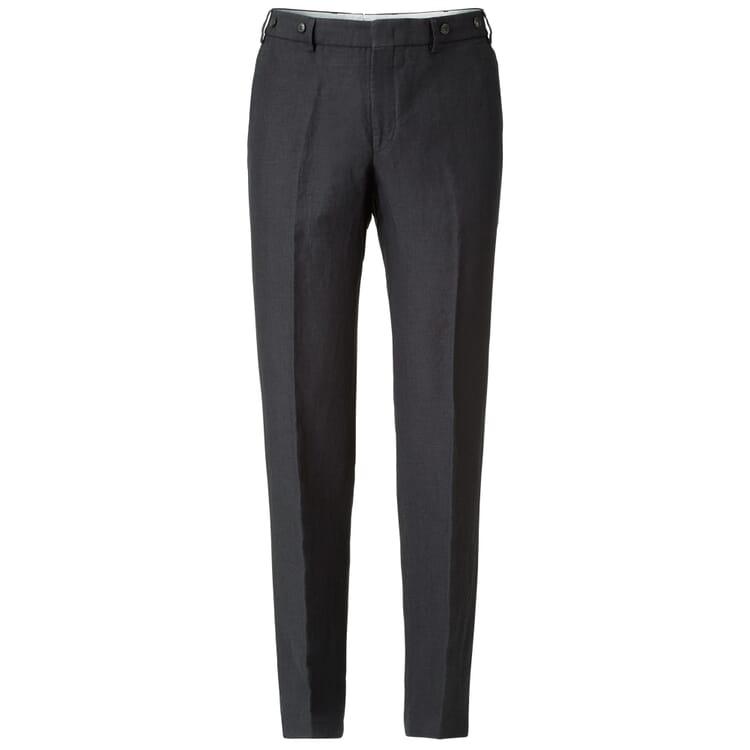 Men's Linen Trousers by Hiltl, Dark Blue