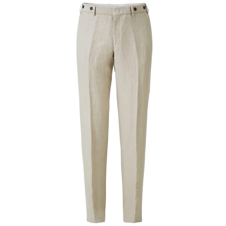 Men's Linen Trousers by Hiltl, Ecru