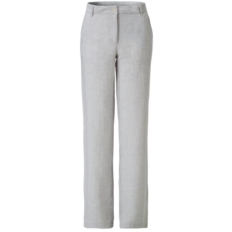 Women's Linen Trousers by Manufactum, Light Grey