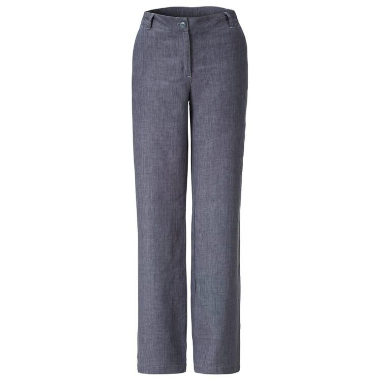 Women's Linen Trousers by Manufactum, Blue