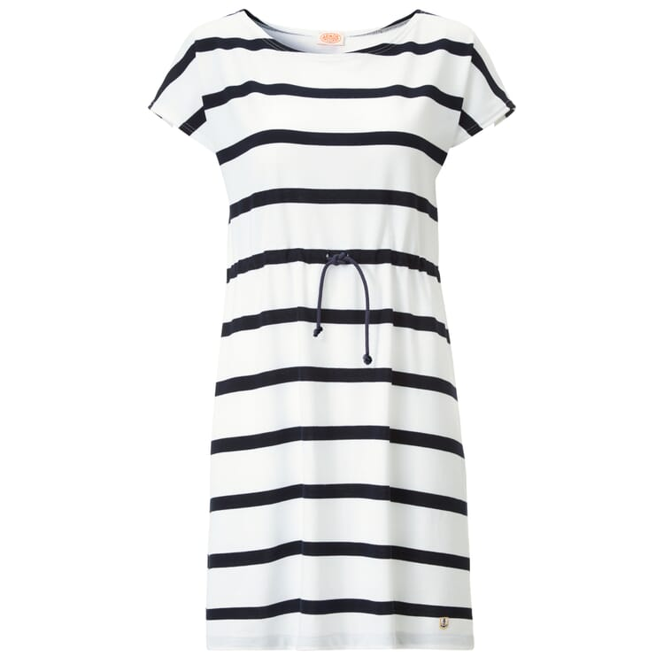 Piqué Dress by Armor lux, White-Navy Blue