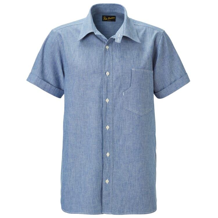 Pike Brothers Herren-Roamer-Shirt Halbarm, Blau