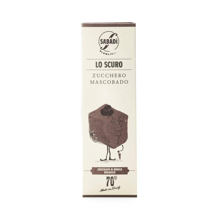 Bio-Schokolade mit Muscovadozucker 70%