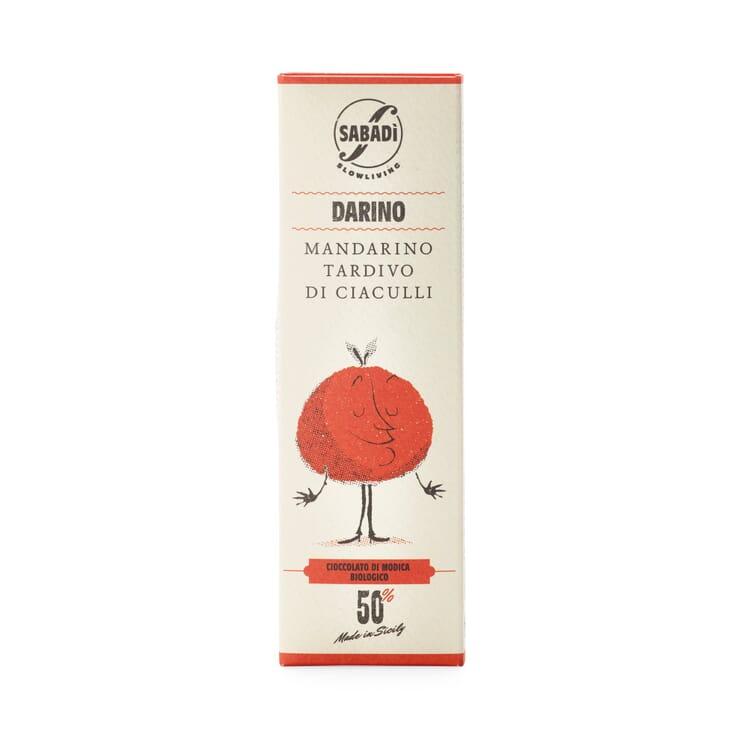 Bio-Schokolade mit Mandarine 50%